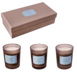 Parfumuri de camera, Idei cadouri, Obiecte decorative - Set de 3 lumanari parfumate, CUCUMBER & BAMBU