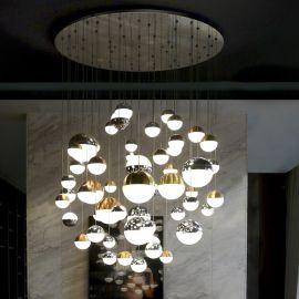 Lustre casa scarii - Lustra casa scarii / Candelabru XXL LED design modern Sphere 55L