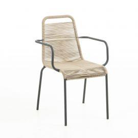 Scaun pentru interior sau exterior GLENVILLE, maro deschis - Evambient Barcelona Living - Scaune