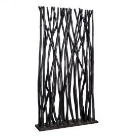 Paravan din lemn/ despartitor decorativ AMBIENTE, negru - Evambient Vintage Style -SX - Decoratiuni
