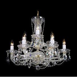 Lustra 9 brate cristal Bohemia, gold