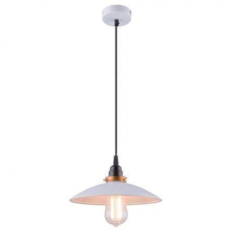 Pendule, Lustre suspendate - Lustra / Pendul stil industrial Ø26cm Joffrey alb/alama antic