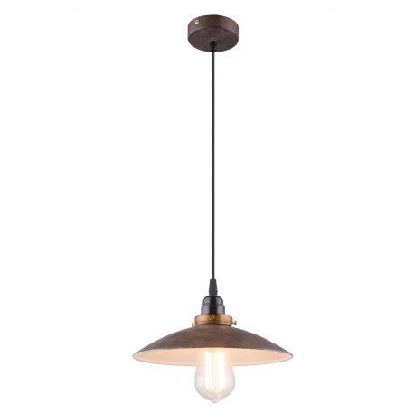 Pendule, Lustre suspendate - Lustra / Pendul stil industrial Ø26cm Joffrey maro rustic/alama antic