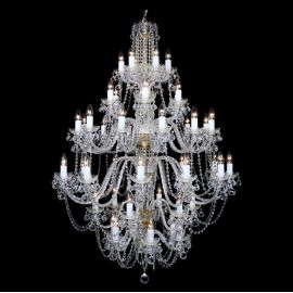 Lustra cristal Bohemia XL