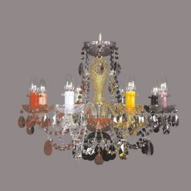 Lustra 8 brate cristal Bohemia, color mix