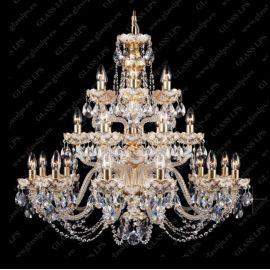 Lustra cristal Bohemia, gold