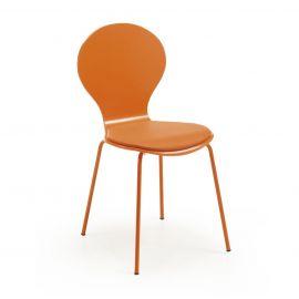 Scaun cu sezut din piele JAZZ portocaliu - Evambient Barcelona Living - Scaune