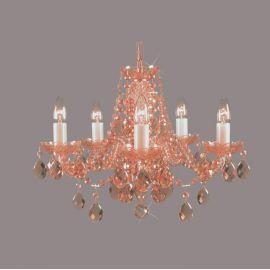 Lustra 5 brate cristal Bohemia, rosaline