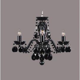 Lustra 3 brate cristal Bohemia, black