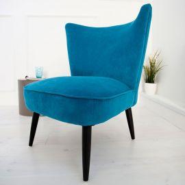 Fotoliu stil Retro albastru Ibiza