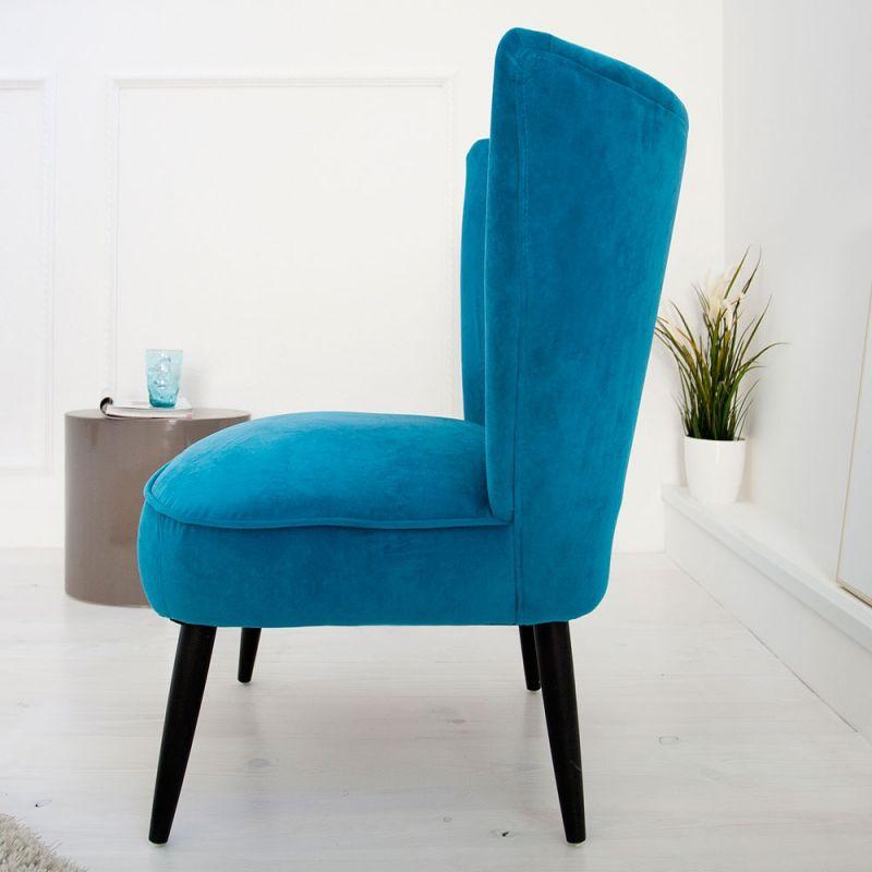 fotoliu stil retro albastru sixties evambient. Black Bedroom Furniture Sets. Home Design Ideas