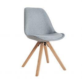 Set de 4 scaune Scandinavia gri/ stejar
