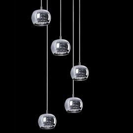 Lustra cu 5 pendule CRYSTAL 5M