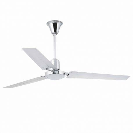 Ventilator de tavan INDUS XXL crom - Faro Barcelona - Lustre cu ventilator