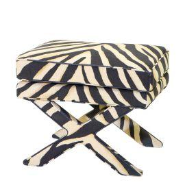 Taburete Cordoba, zebra
