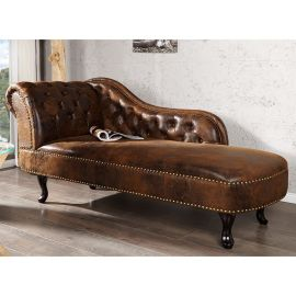 Canapea relax Chesterfield maro antic
