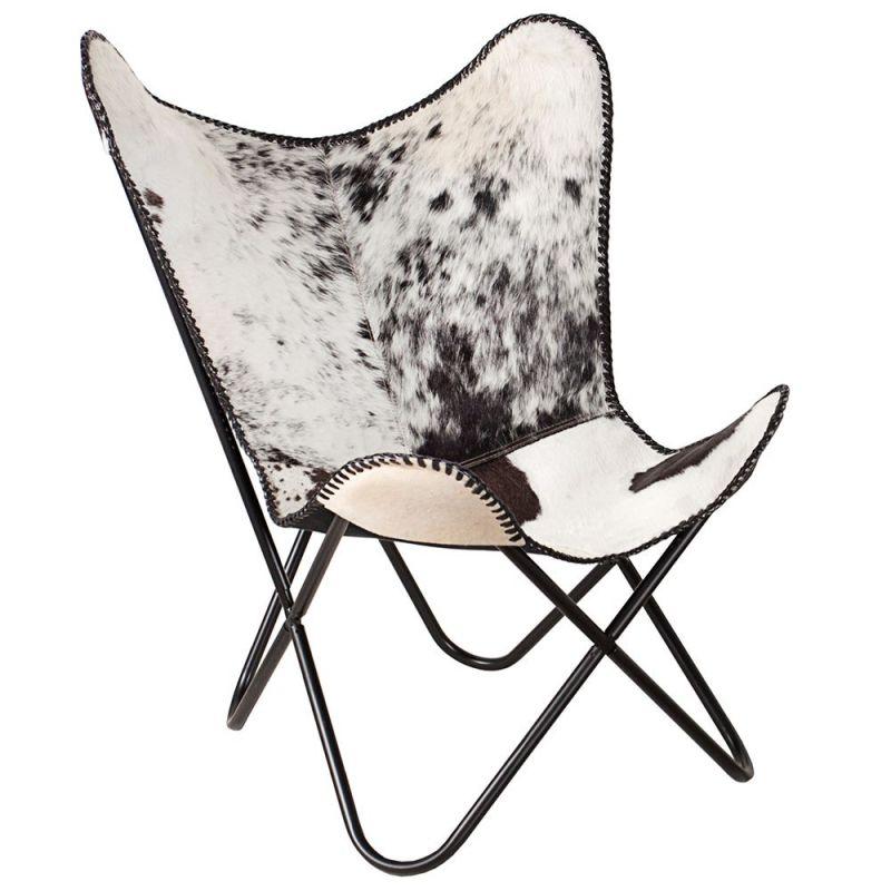 fotoliu butterfly alb negru. Black Bedroom Furniture Sets. Home Design Ideas