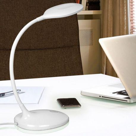 Lampa LED de birou SCOOP WHITE - Evambient SV - Corpuri de iluminat
