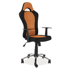 Scaun de Birou gaming Q-039 negru/ portocaliu