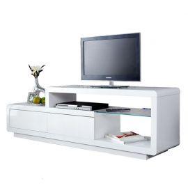 Comoda TV Phase alb cu iluminat LED