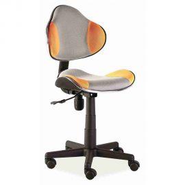 Scaun de birou Q-G2 portocaliu/ gri