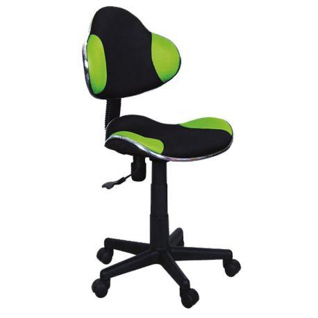 Scaun de birou Q-G2 negru/ verde - Evambient SM - Scaune Birou cu role