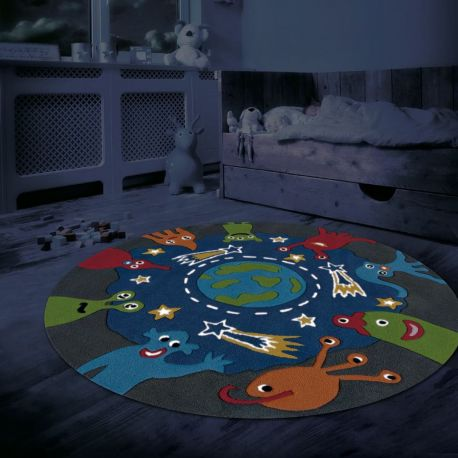Covor copii Spirit-Glowy 130cm albastru - Evambient AE - Reduceri