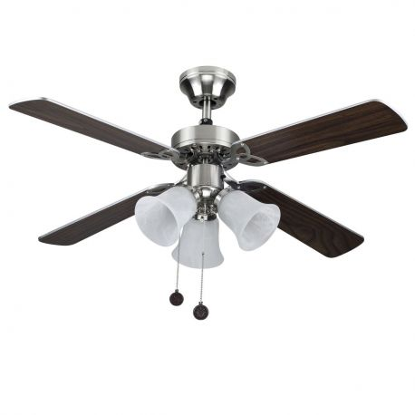 Lustra cu Ventilator HORNET nikel
