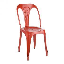 Set de 4 scaune Industrial DROID rosu