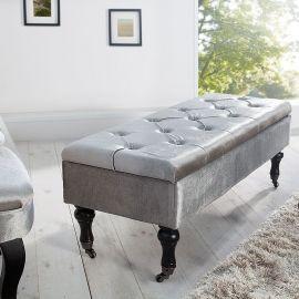 Bancheta Boutique 110cm argintiu