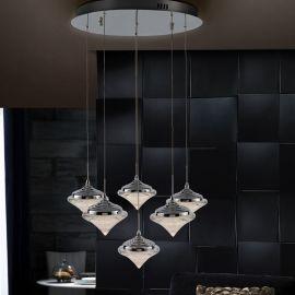 Lustra LED cu 6 pendule Zoe - Evambient SV - Pendule, Lustre suspendate