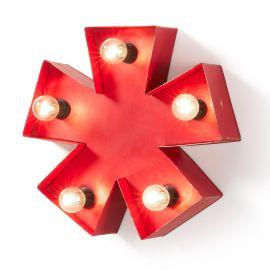 Semn decorativ cu iluminat CLARK Asterisk