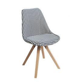 Set de 4 scaune Scandinavia alb/ negru - Evambient VC - Seturi scaune, HoReCa
