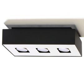 Spot modern aplicat Mono III negru
