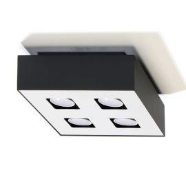 Spot modern aplicat Mono 4 negru