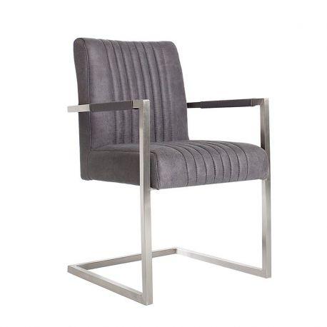 Set de 2 scaune Big Aston gri vintage