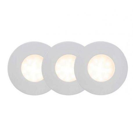 Set de 3 spoturi protectie IP44 Darcey - Evambient BL - Iluminat pentru baie