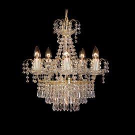 Candelabru cristal cu 6 brate Bohemia, 48cm