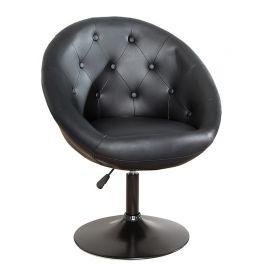 Scaun pivotant Couture negru