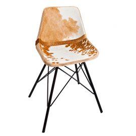 Set 4 scaune Toro maro/ alb