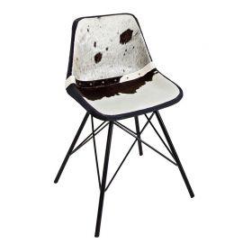 Set 4 scaune Toro negru/ alb