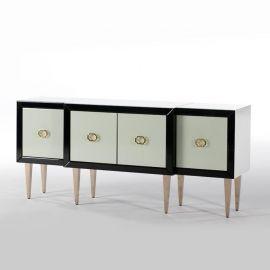 Comoda design lux alba/neagra Opal