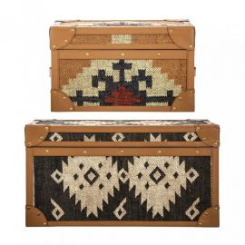 Set de 2 cufare tapitate design rustic KILLIM