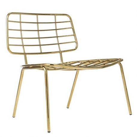 Scaun Lounge elegant Mesh auriu