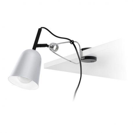Lampa cu clips STUDIO gri/alb - Faro Barcelona - Aplice