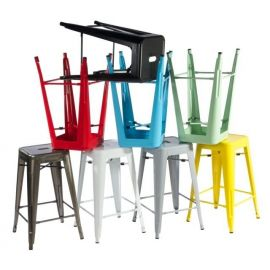 Scaun de bar Industrial Paris multicolor