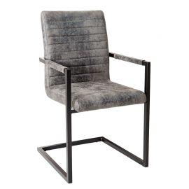 Set de 4 scaune Imperial gri vintage/ negru