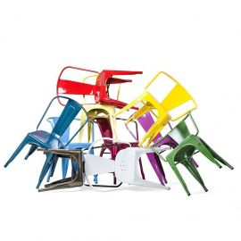 Scaun Industrial Paris Arms multicolor