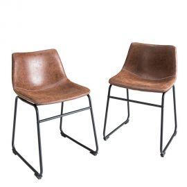 Set de 2 scaune Django maro vintage