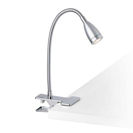Lampa LED de birou cu clip LOKE-2 crom - Faro Barcelona - Lampi birou